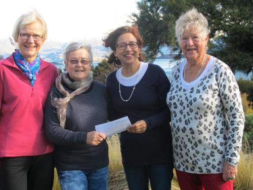 Creative fibre hands over funds for building project